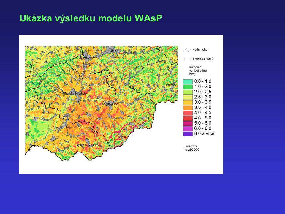 Ukázka výsledku modelu WAsP