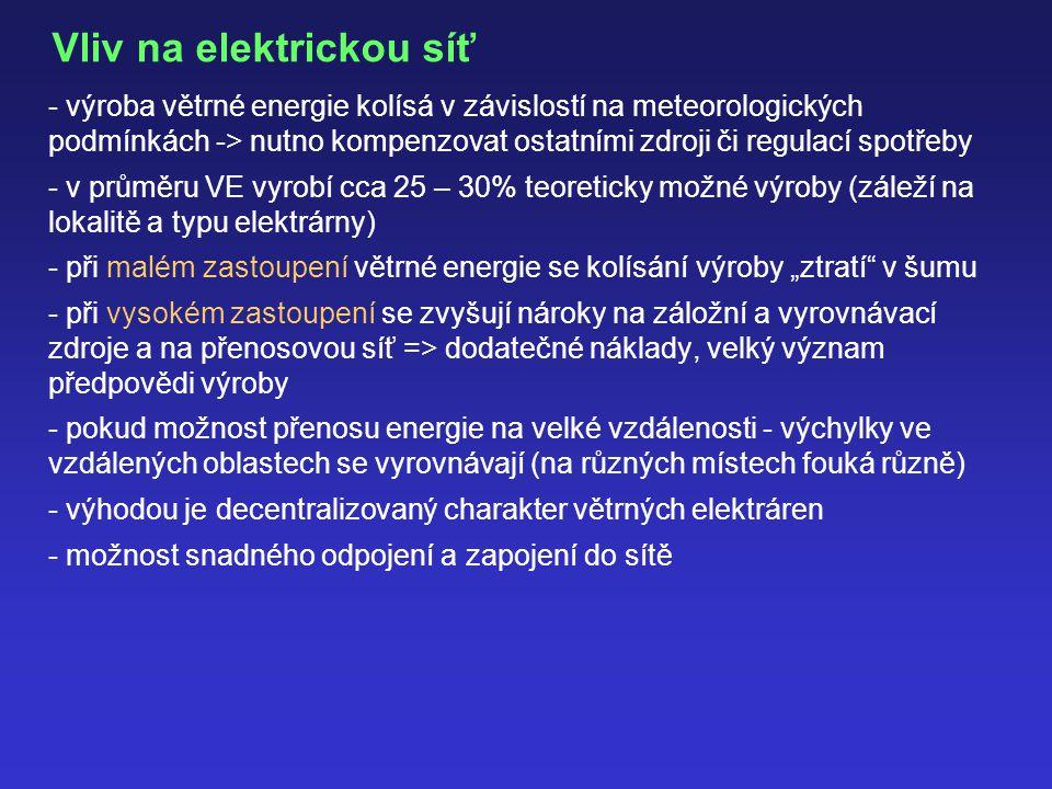 Vliv na elektrickou síť