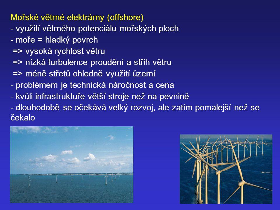 Mořské větrné elektrárny (offshore)