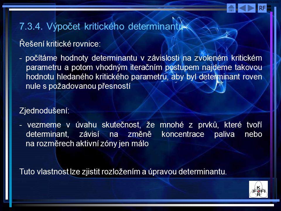 7.3.4. Výpočet kritického determinantu
