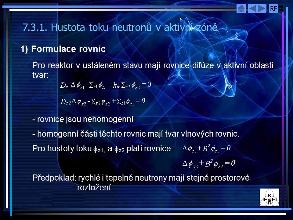 7.3.1. Hustota toku neutronů v aktivní zóně