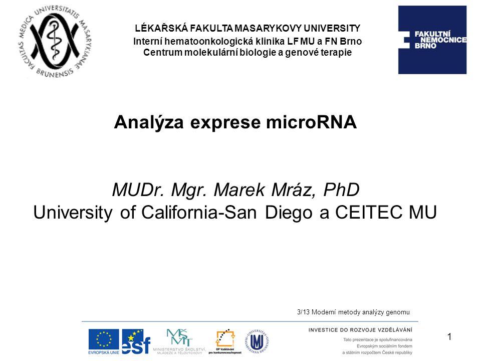 Analýza exprese microRNA