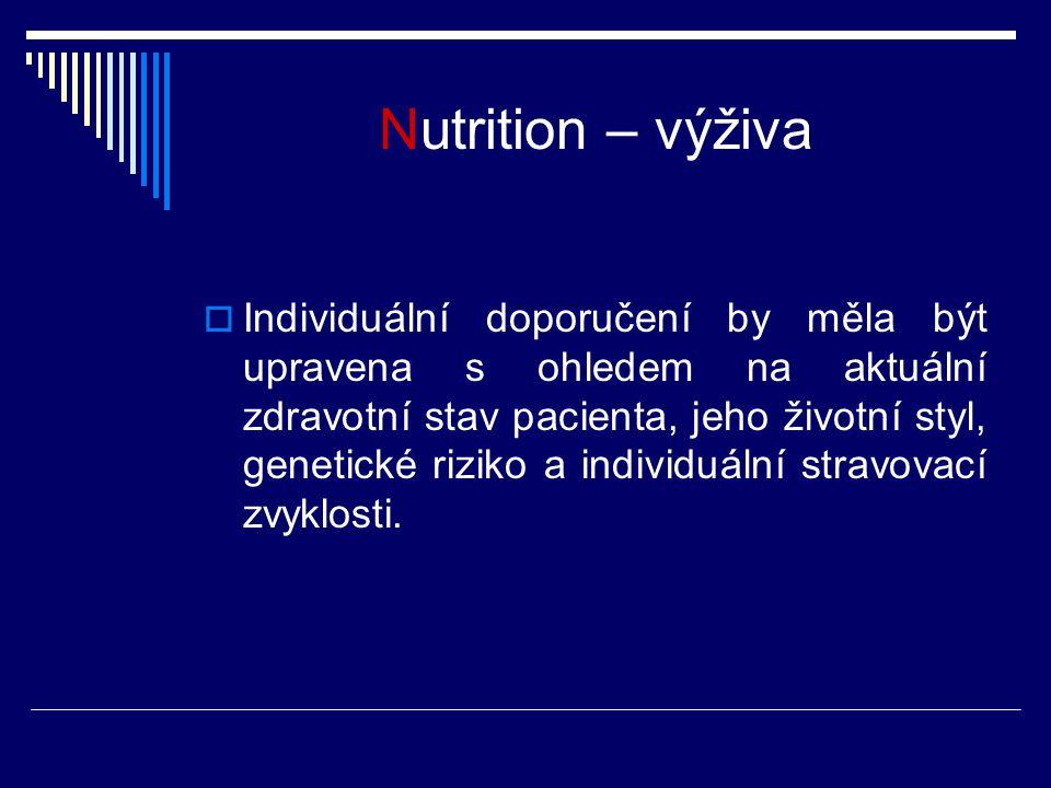 Nutrition – výživa