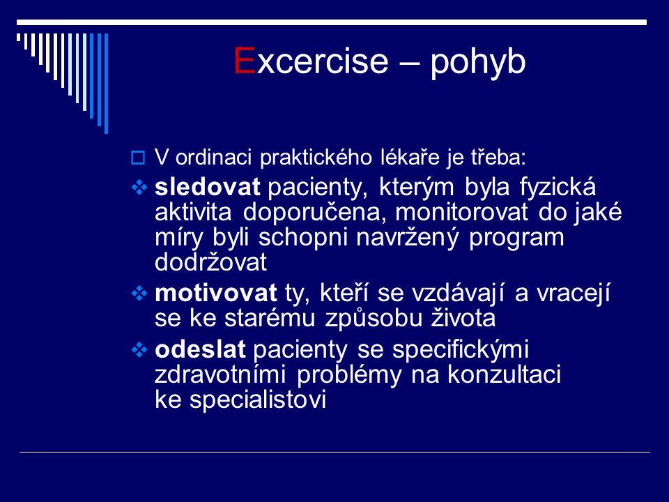 Excercise – pohyb V ordinaci praktického lékaře je třeba: