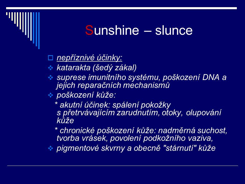 Sunshine – slunce nepříznivé účinky: katarakta (šedý zákal)