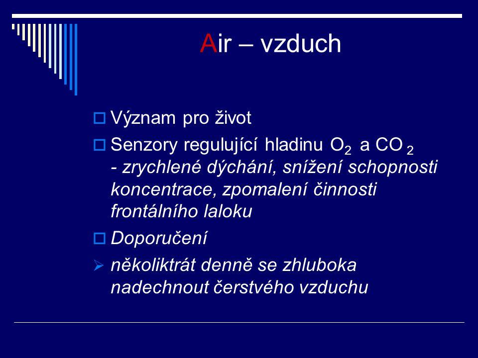 Air – vzduch Význam pro život