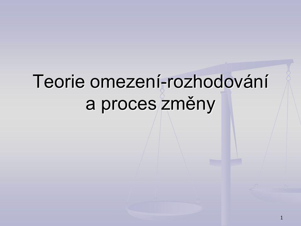 Teorie omezení-rozhodování a proces změny