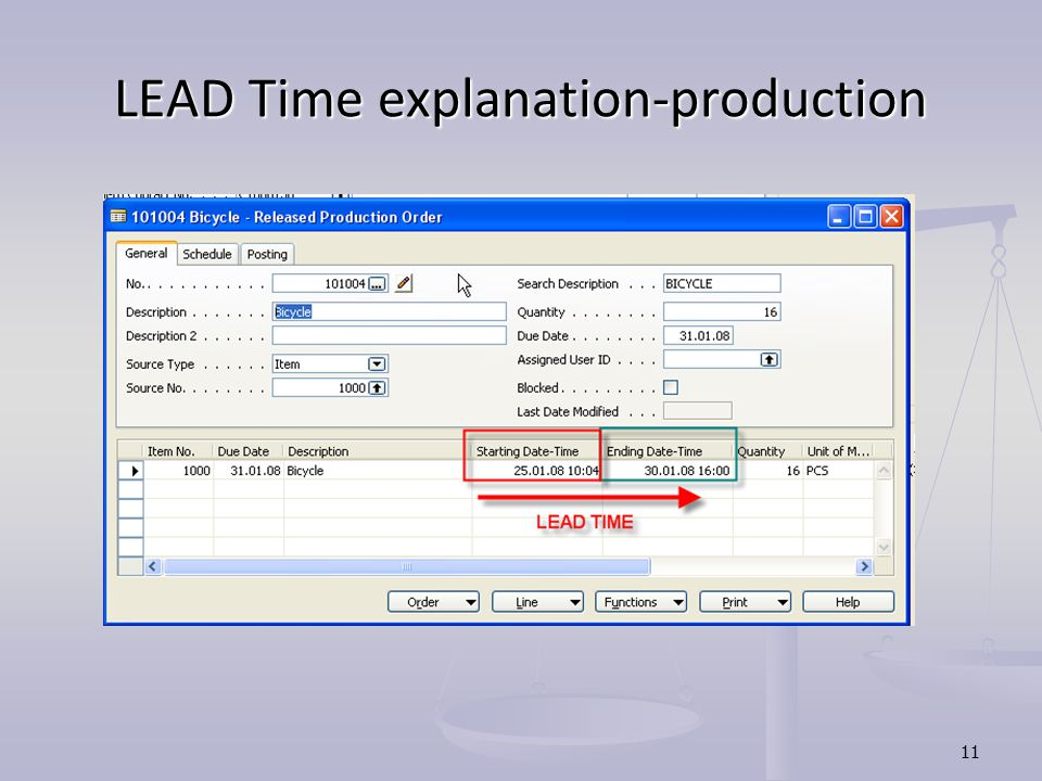 LEAD Time explanation-production
