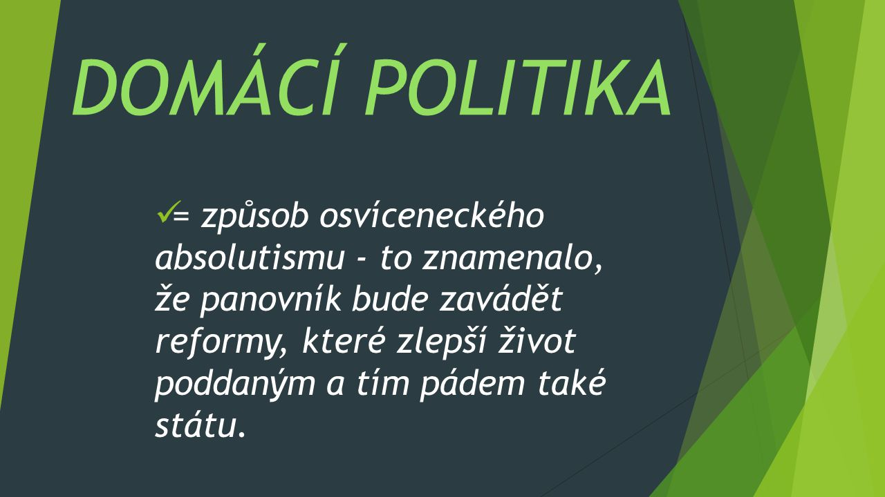DOMÁCÍ POLITIKA