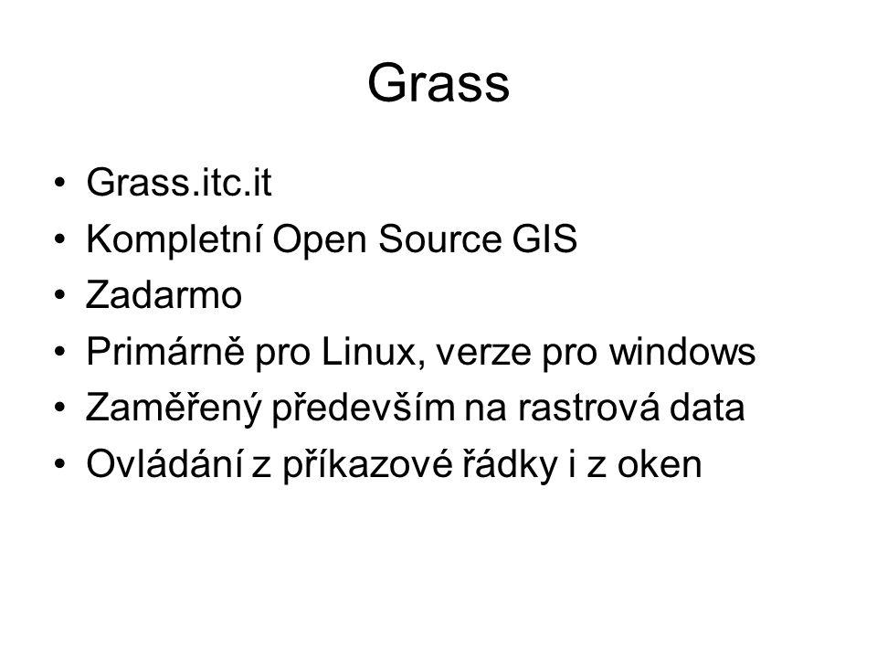 Grass Grass.itc.it Kompletní Open Source GIS Zadarmo
