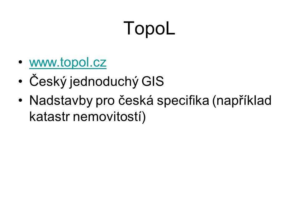 TopoL www.topol.cz Český jednoduchý GIS