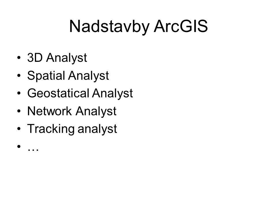 Nadstavby ArcGIS 3D Analyst Spatial Analyst Geostatical Analyst