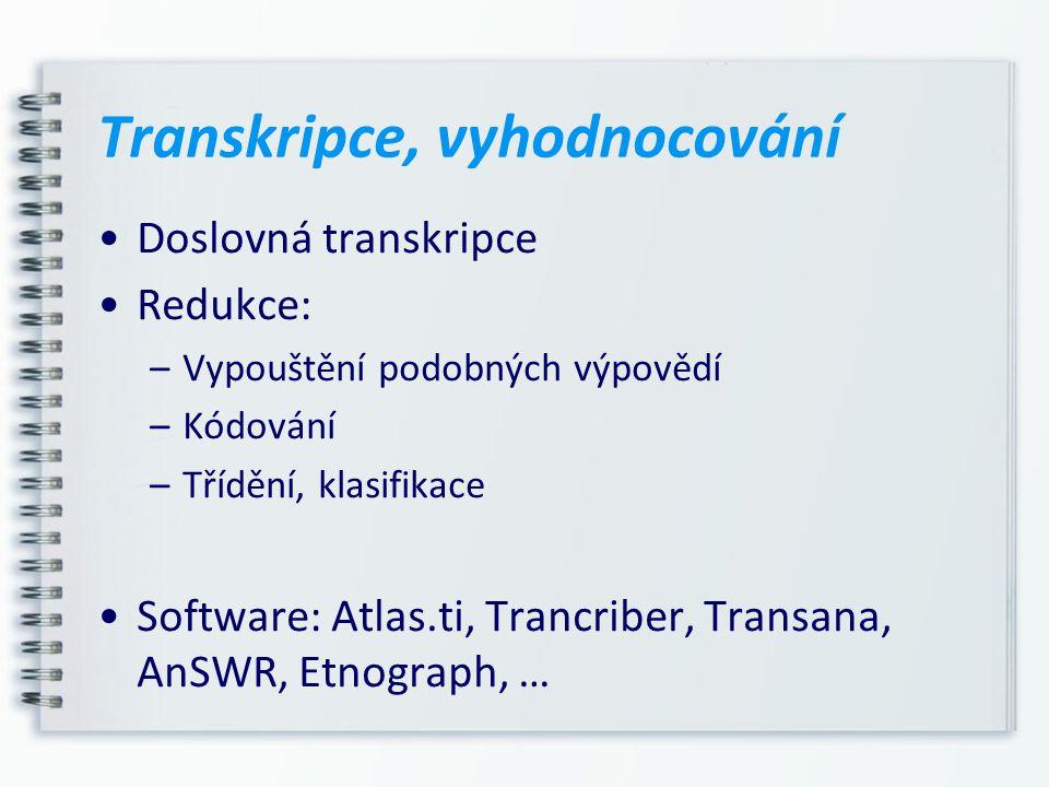 Transkripce, vyhodnocování