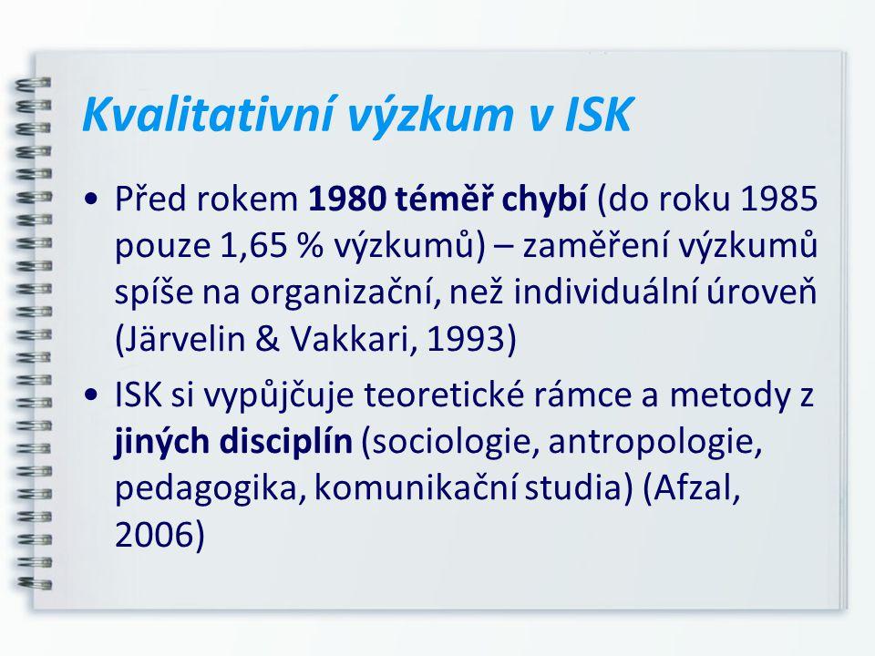 Kvalitativní výzkum v ISK