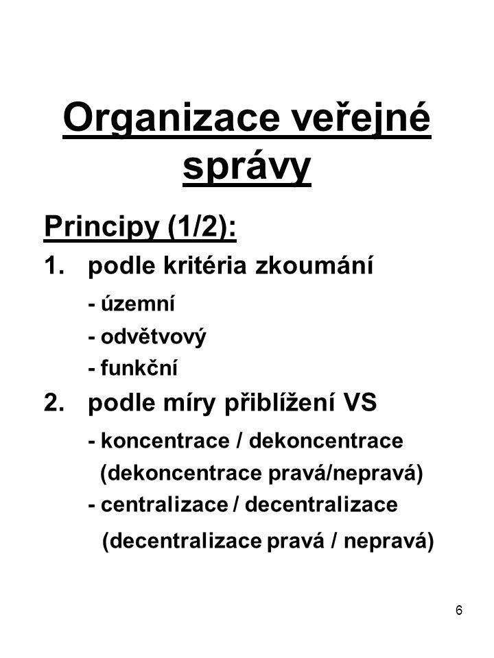 Organizace veřejné správy
