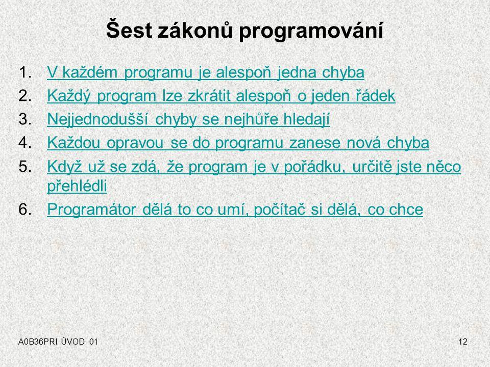 Šest zákonů programování