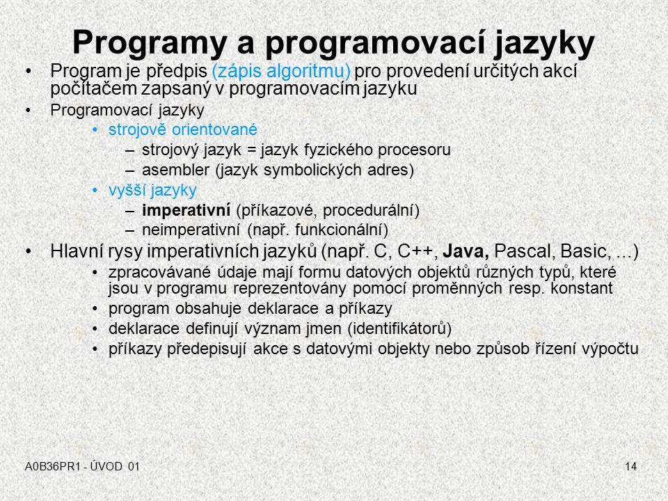 Programy a programovací jazyky