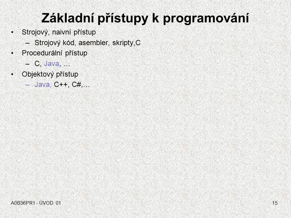 Základní přístupy k programování