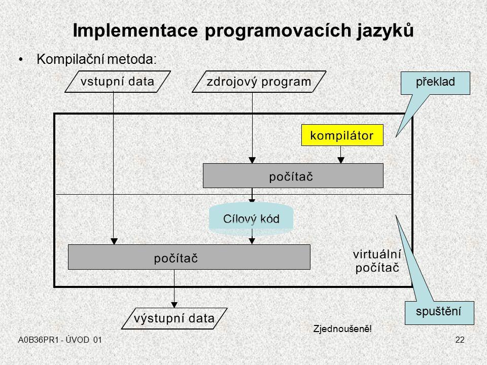 Implementace programovacích jazyků
