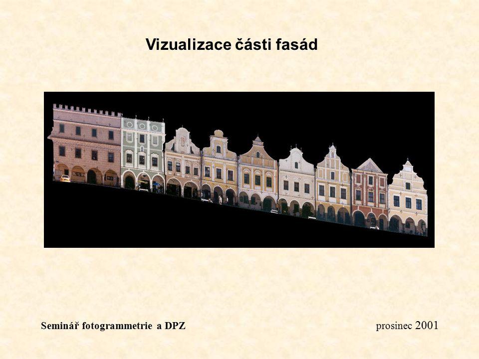 Vizualizace části fasád