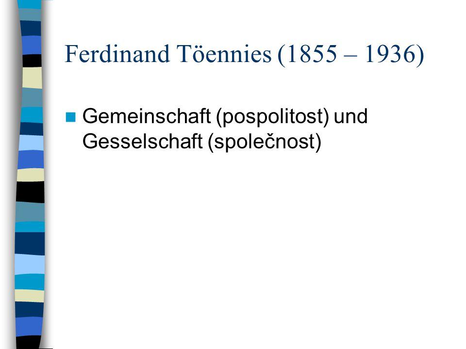 Ferdinand Töennies (1855 – 1936)