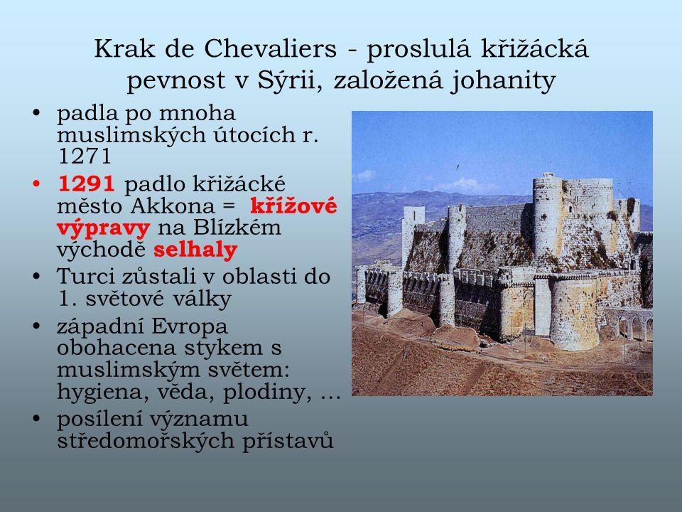 Krak de Chevaliers - proslulá křižácká pevnost v Sýrii, založená johanity
