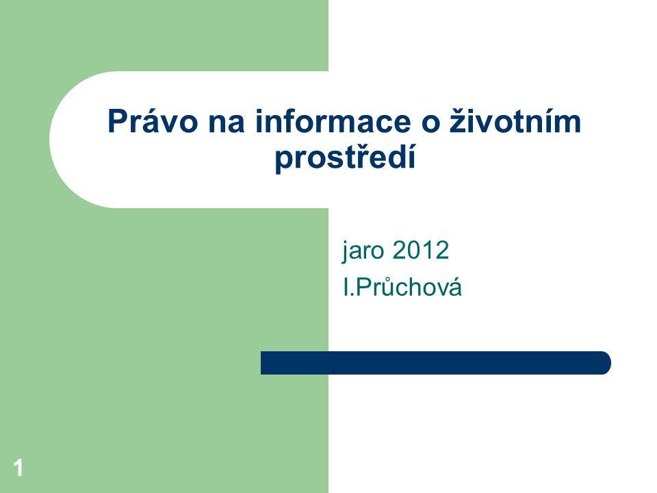 Právo na informace o životním prostředí