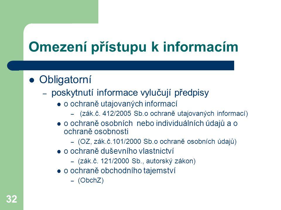 Omezení přístupu k informacím