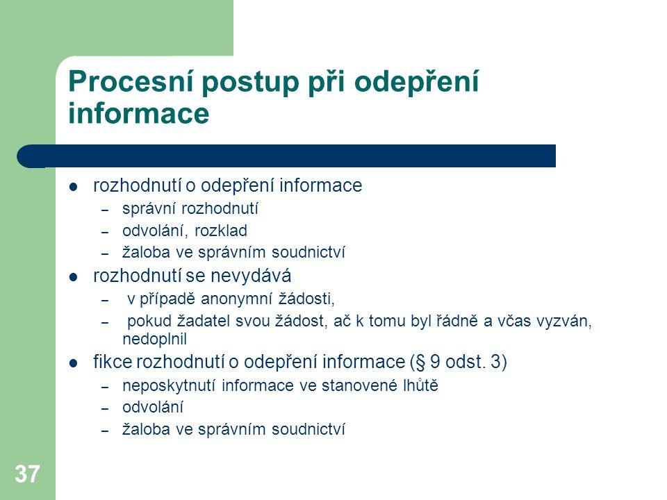 Procesní postup při odepření informace