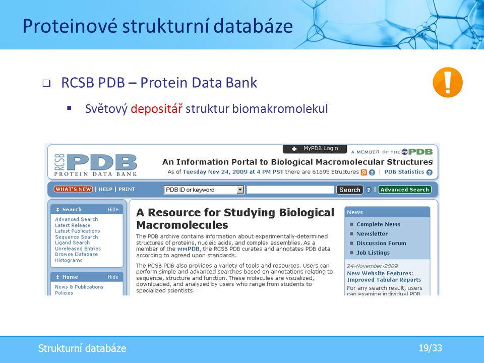 Proteinové strukturní databáze