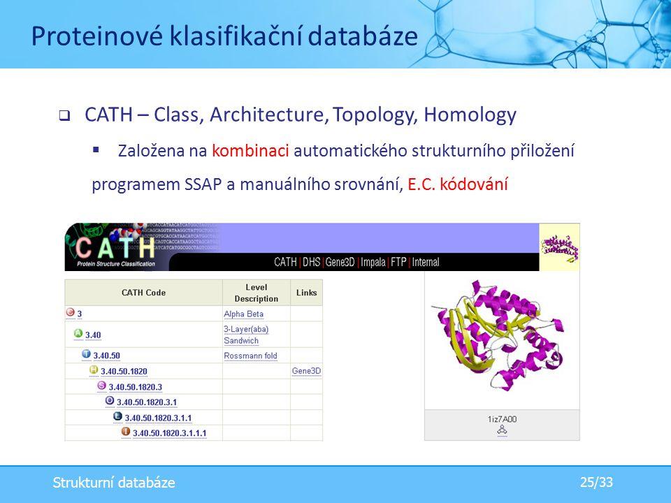 Proteinové klasifikační databáze