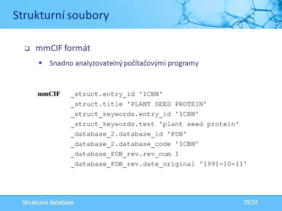Strukturní soubory mmCIF formát