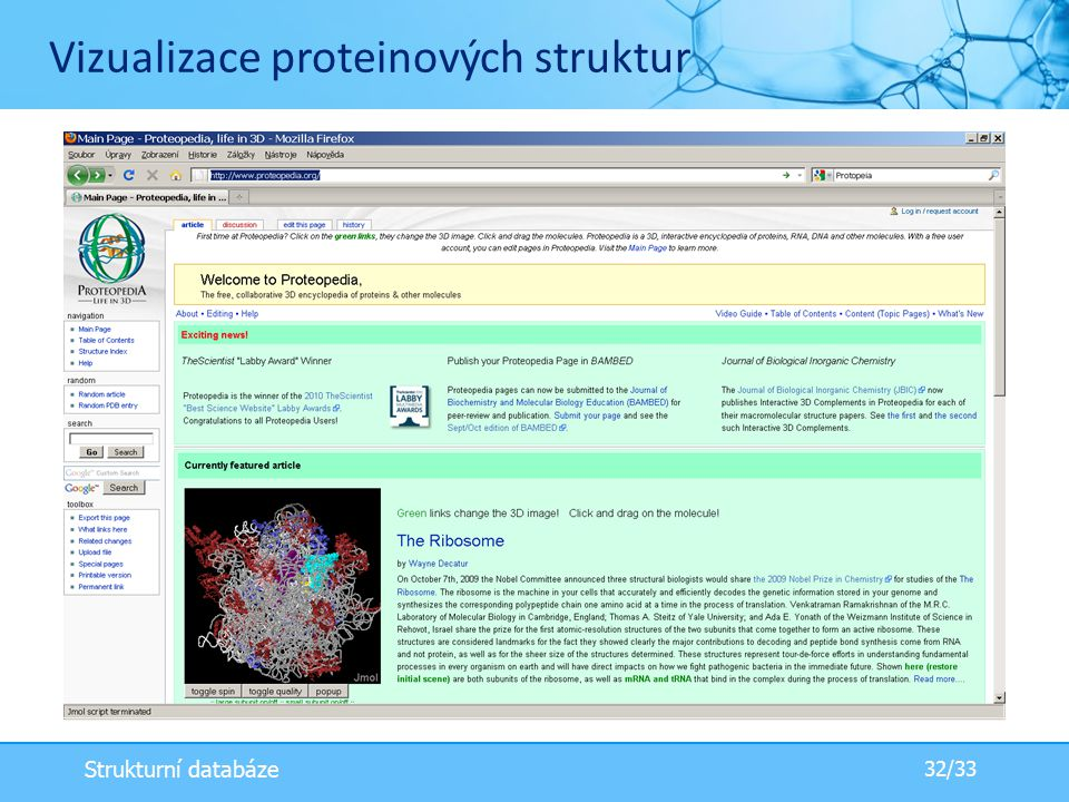 Vizualizace proteinových struktur