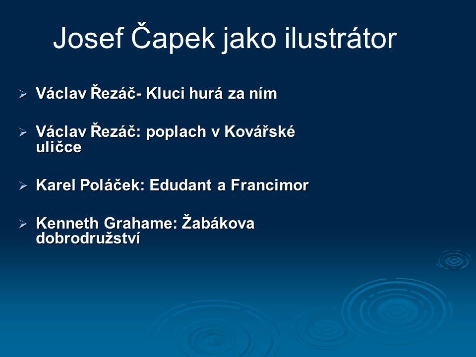 Josef Čapek jako ilustrátor