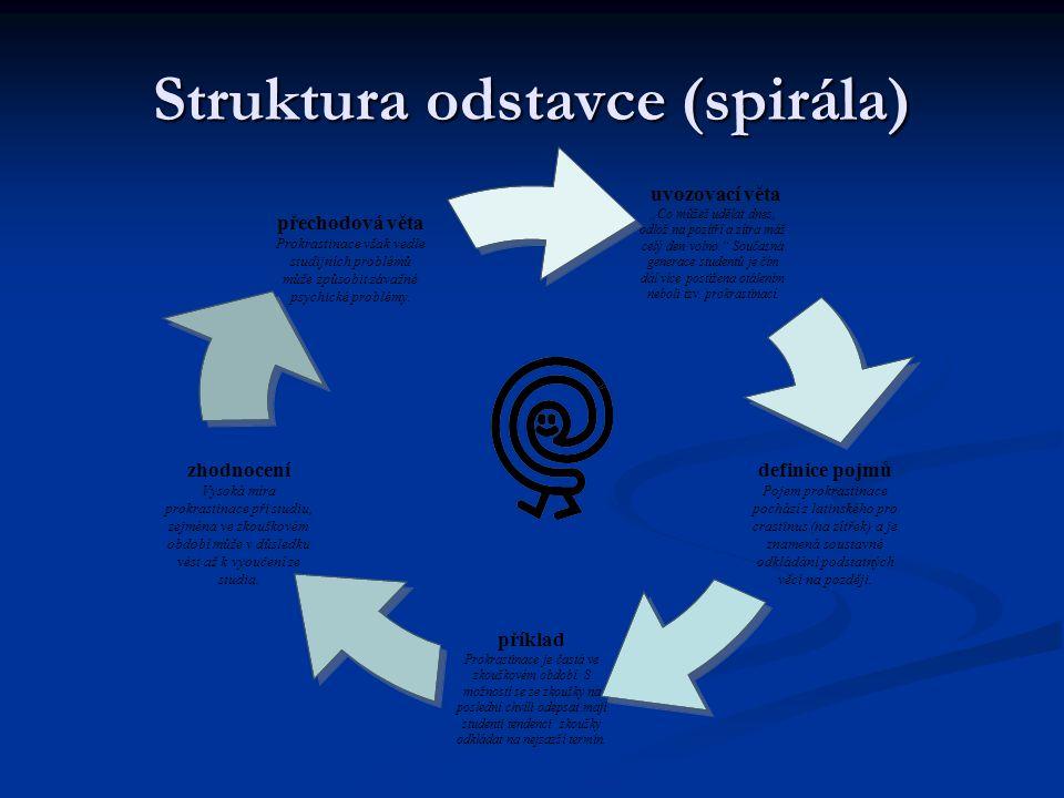 Struktura odstavce (spirála)