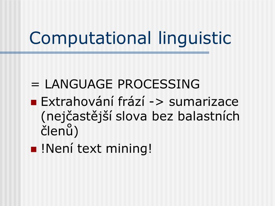 Computational linguistic