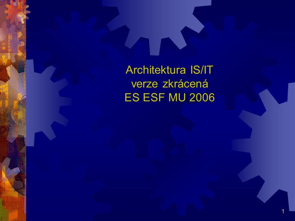 Architektura IS/IT verze zkrácená ES ESF MU 2006
