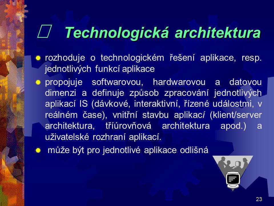 ¨ Technologická architektura