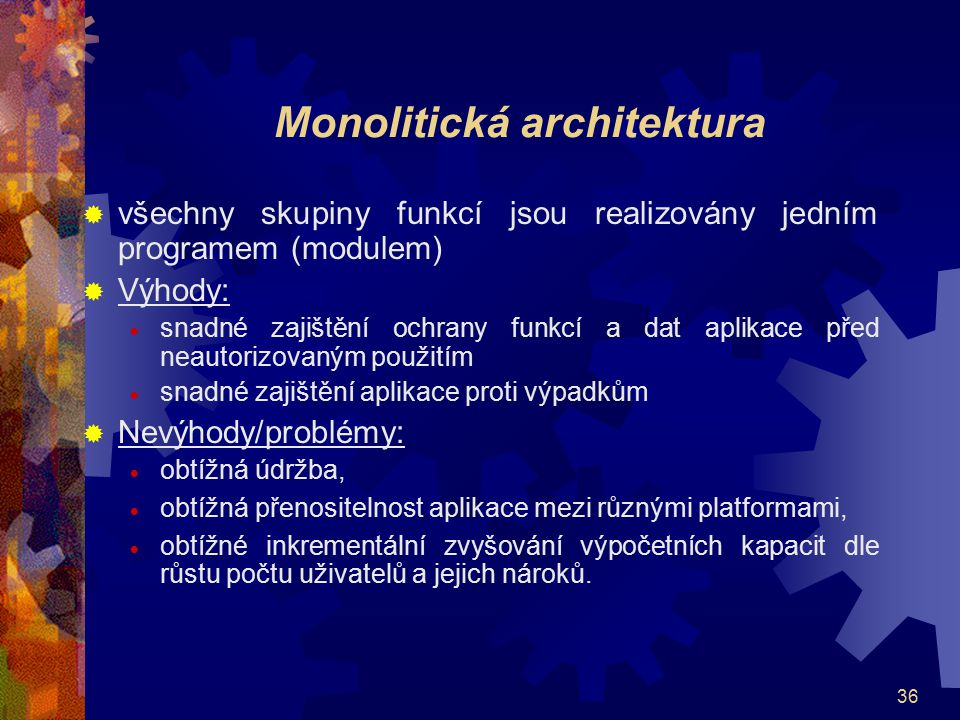 Monolitická architektura