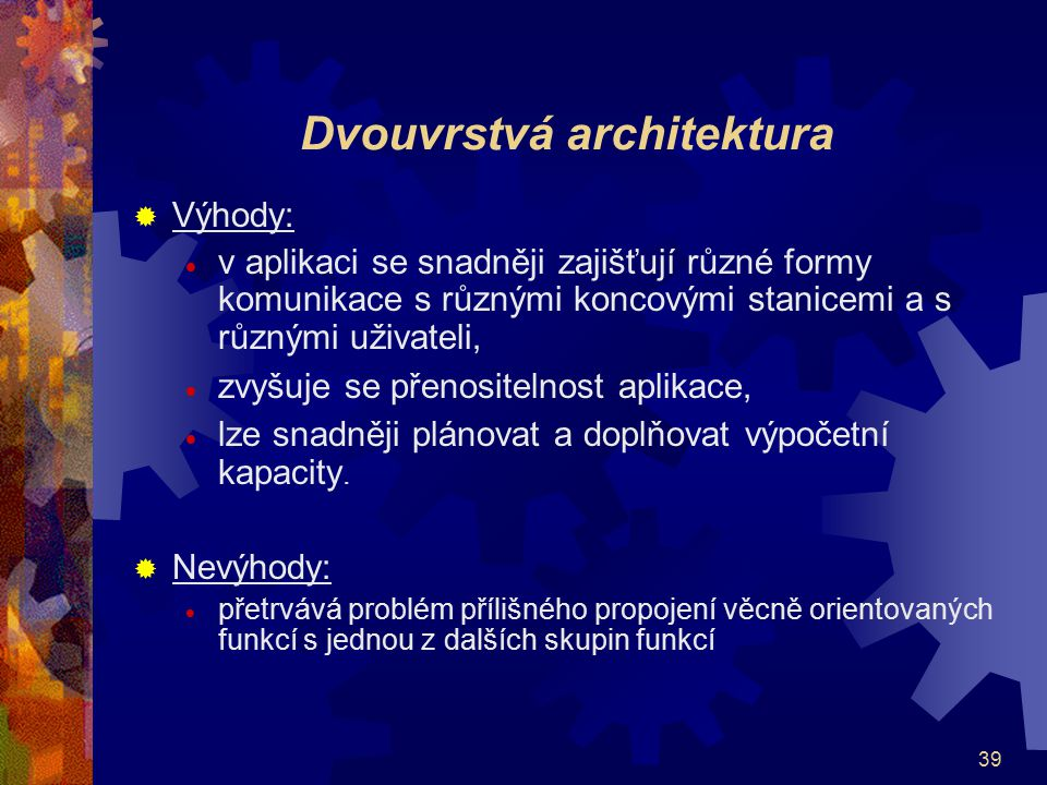 Dvouvrstvá architektura