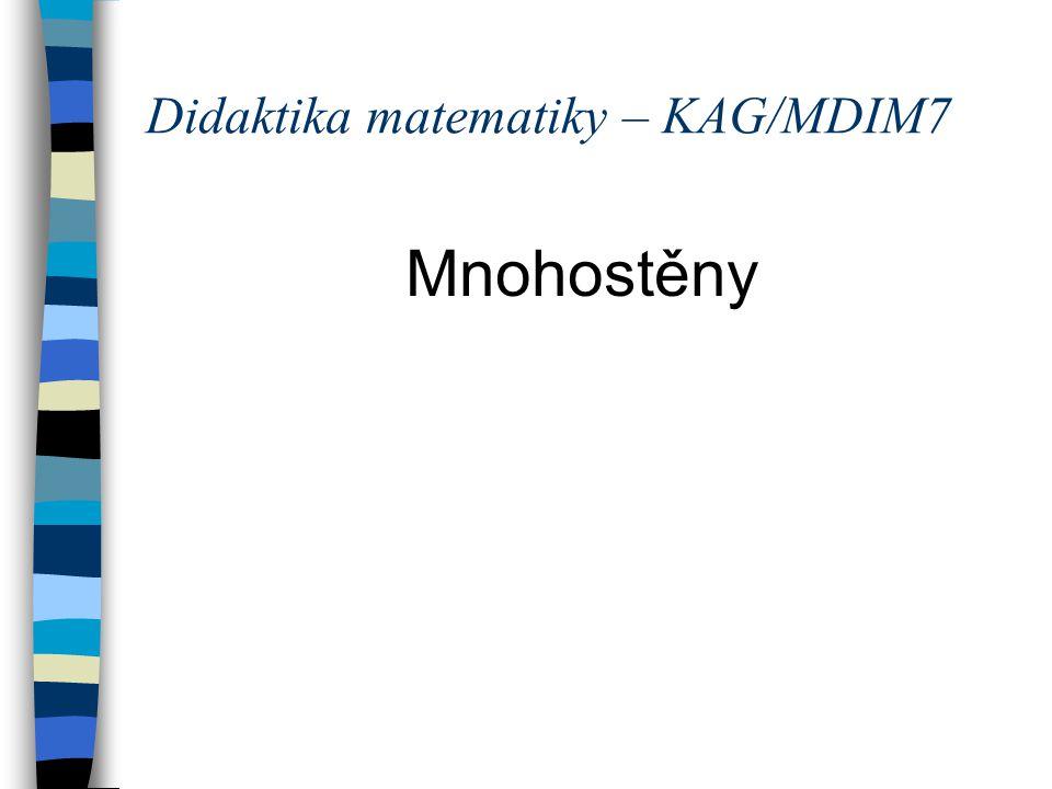 Didaktika matematiky – KAG/MDIM7