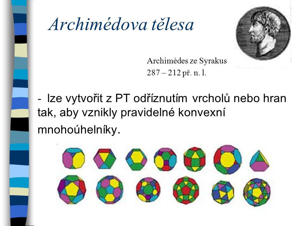 Archimédova tělesa Archimédes ze Syrakus. 287 – 212 př. n. l.