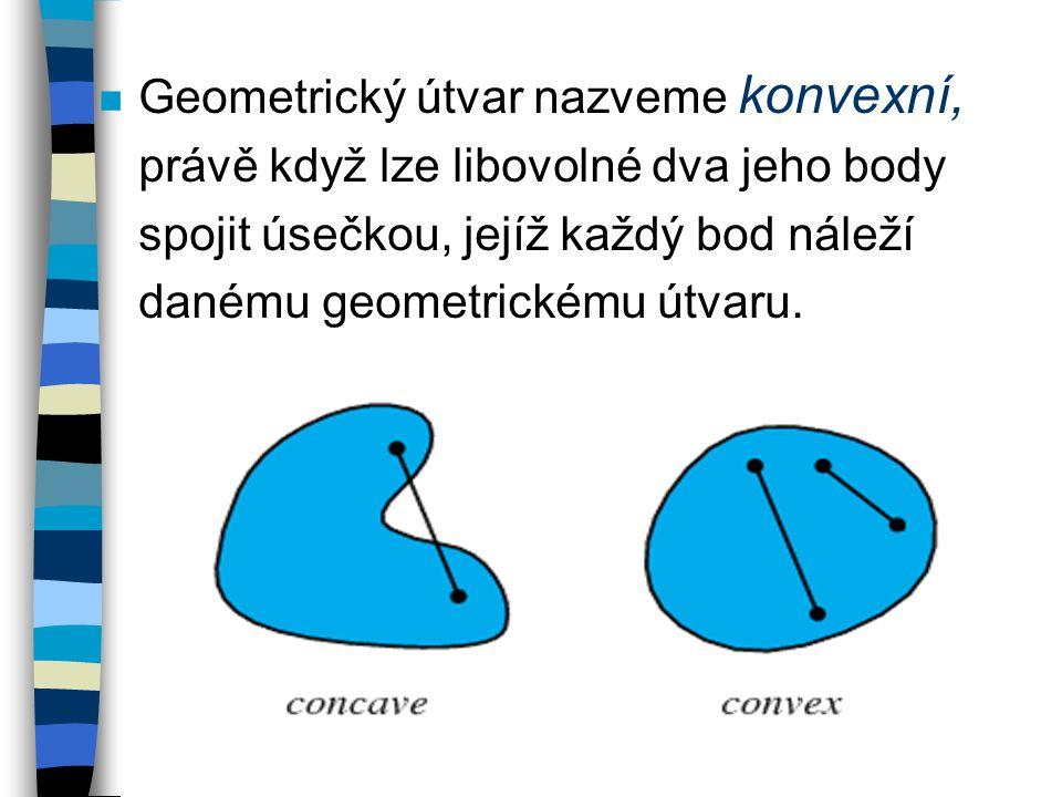 Geometrický útvar nazveme konvexní,