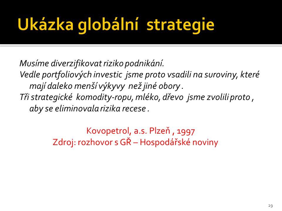 Ukázka globální strategie