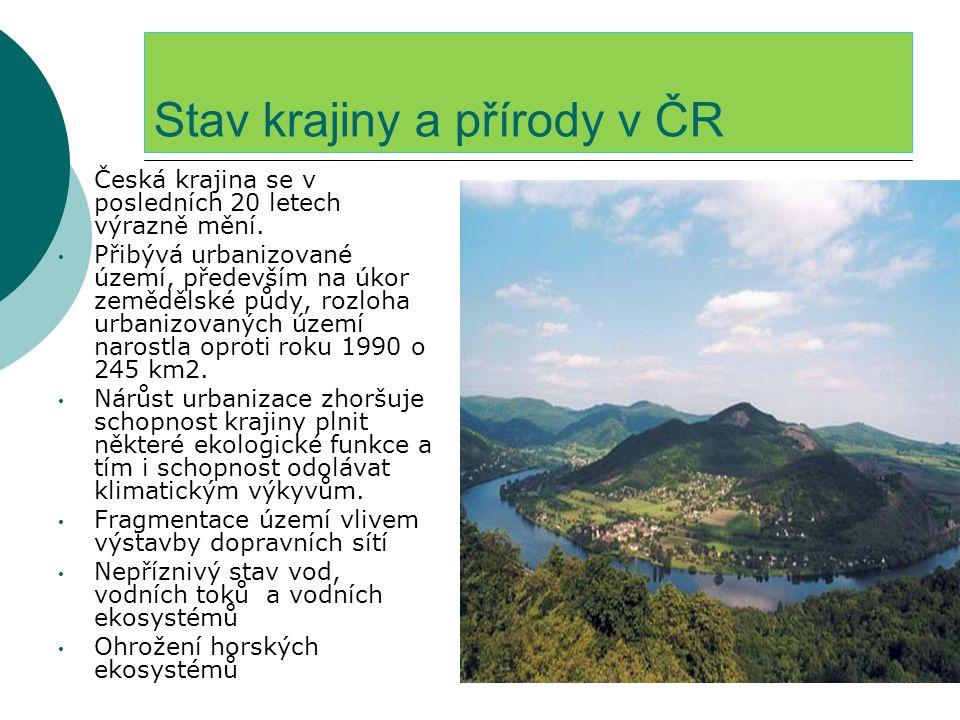Stav krajiny a přírody v ČR