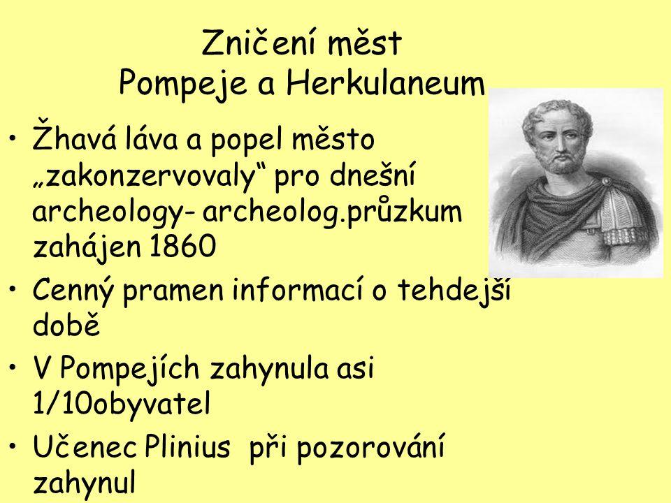 Zničení měst Pompeje a Herkulaneum