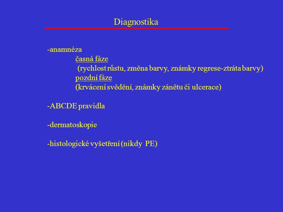 Diagnostika -anamnéza časná fáze