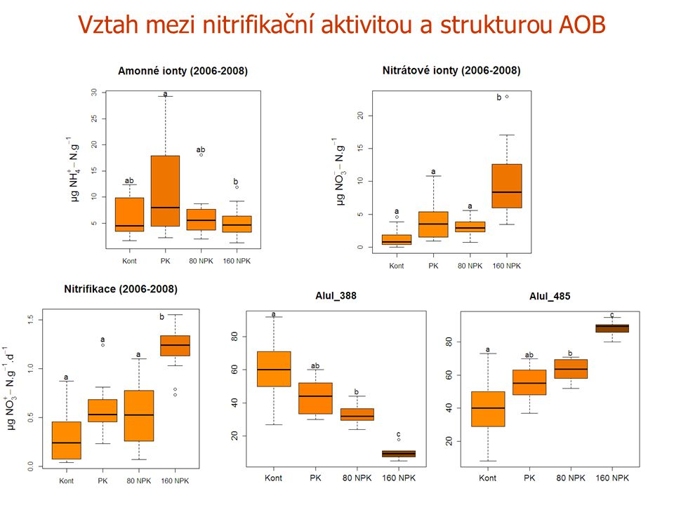Vztah mezi nitrifikační aktivitou a strukturou AOB