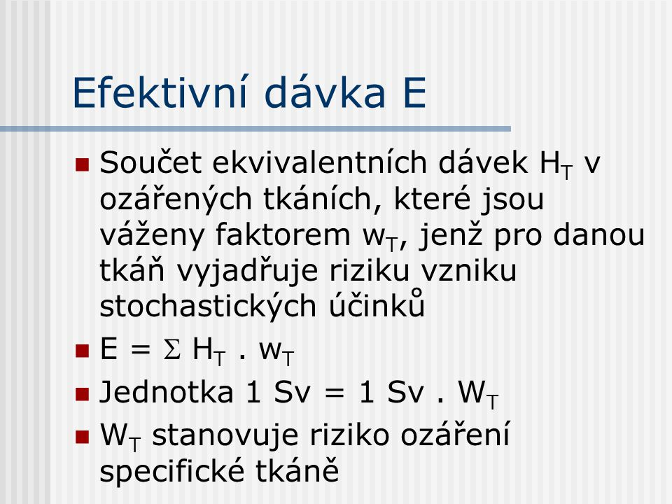 Efektivní dávka E