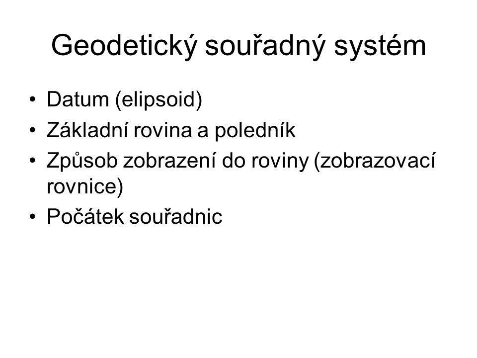 Geodetický souřadný systém
